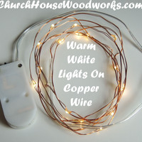 Warm White On Copper Wire Birthday Party Lights