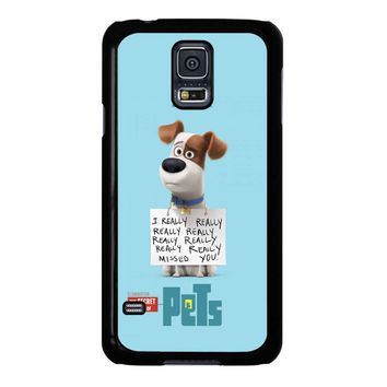 The Secret Life Of Pets Max Poster Samsung Galaxy S5 Case