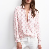 NEELA PRINTED COTTON VOILE COLLARED SHIRT - Tees & Tops - Women