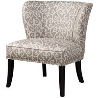 Madrid Beige Scroll Upholstered Side Chair