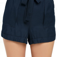 Picnic for Two Navy Blue Shorts
