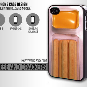 Iphone Case Cheese and Crackers Food Iphone 4 case Hipster Iphone 5 case Iphone 4s case Samsung Galaxy S3 Case Iphone 4 Cover