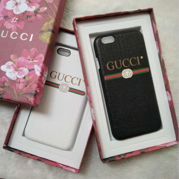 GUCCI Fashion iPhone Phone Cover Case For iphone 6 6s 6plus 6s-plus 7 7plus hard shell G-1