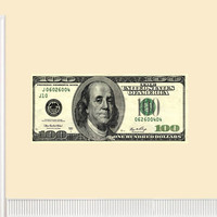100 Dollar Bill Wall Decal Jumbo Bills Money Peel and Stick Mural Wall Sticke...