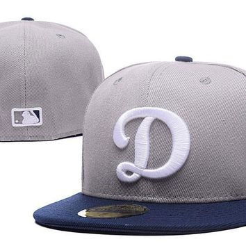 PEAPON Los Angeles Dodgers New Era MLB Authentic Collection 59FIFTY Cap Grey-White D