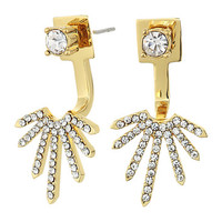 Vince Camuto Front Back Earrings Gold/Crystal - Zappos.com Free Shipping BOTH Ways