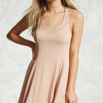 Sheer Racerback Swing Dress