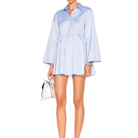 Sandy Liang Cosmo Dress in Office Blues   FWRD