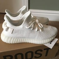 Come With Box Adidas yeezy boost 350 V2 Cream White CP9366 size 9.5 DS 100% authentic