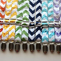 Little Guy Adjustable Suspenders  - MINI CHEVRON Collection - (All Sizes) - Baby Boy Toddler - Custom Order - Wedding - Photo Prop