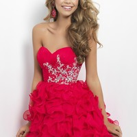 Blush Prom 9673 Strapless Homecoming Dress