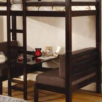 Amelia Cappuccino Convertible Table Bunk Bed