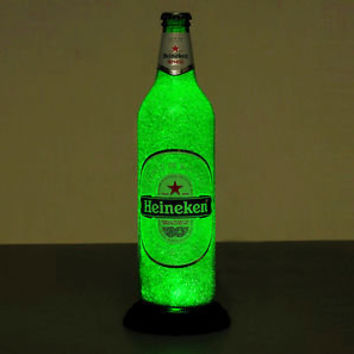 Heineken 24oz.LED Beer Bottle Lamp Light Pub Bar Neon Sign Man Cave Sparkle