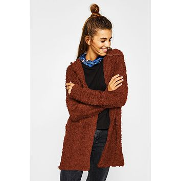 Candy Color Long Loose Hooded Cardigan Coat