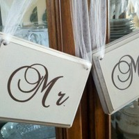 Mr. and Mrs. Wedding Signs | SignsofElegance - Housewares on ArtFire