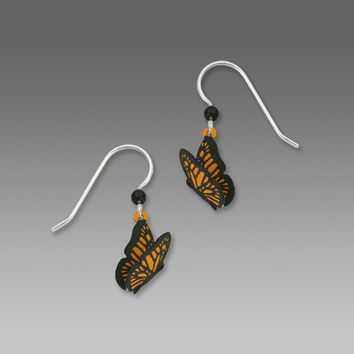 Sienna Sky Earrings - Monarch Butterfly with Wings Spread