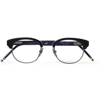 Thom Browne Square-Frame Acetate and Metal Optical Glasses | MR PORTER