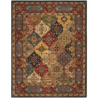Safavieh Heritage Collection HG926A Handmade Traditional Oriental Red and Multi Wool Area Rug (8' x 10')