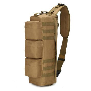 Sports gym bag Men's Tactical MOLLE Assault Go Bag Camouflage Shoulder Sling Army Bags Military Hiking Camping Pack Fishing Backpack XA192WD KO_5_1