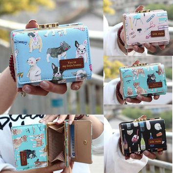 Women Clutch Cute Cartoon Wallet Short Card Holder Leather Purse Coin Handbag