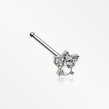 Royal Majestic Sparkle Nose Stud Ring