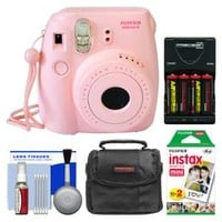 Walmart: Fujifilm Instax Mini 8 Instant Film Camera (Pink) with Instant Film + Case + Batteries & Charger + Kit