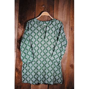 Cotton Tunic Top Tory Dark Green