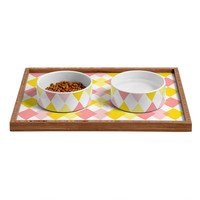 Hello Twiggs Yellow Party Pet Bowl and Tray