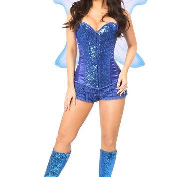 Daisy Top Drawer 3 PC Blue Fairy Corset Costume