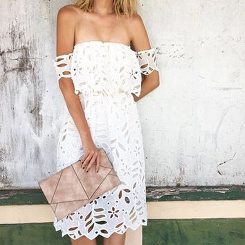 Smoke Lace Dress