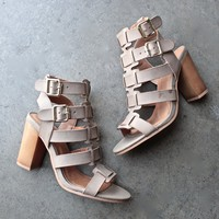on the go double buckle sandal - burnish taupe