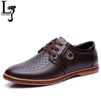 2017 Men Leather Casual Shoes Men's Lace Up Footwear Business Adult Moccasins Male Shoes Chaussure Home