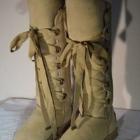 Australia Luxe Collective Tall Bedouin Lace Up Boots EUC Size 6 Ret. $650