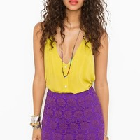 Lolita Crochet Skirt - Violet in  Clothes Bottoms at Nasty Gal
