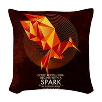 Ctaching Fire Mockingjay Woven Throw Pillow> Home Decor> THE HUNGER GAMES FAN