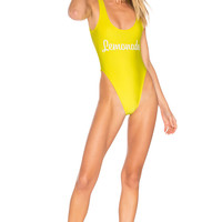 Private Party Lemonade One Piece Swimsuit in Yellow | REVOLVE