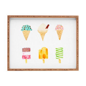 Laura Redburn Ice Cream Selection Rectangular Tray