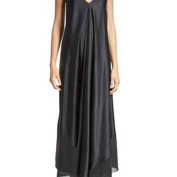 T by Alexander Wang Silk Charmeuse Midi Dress | Nordstrom