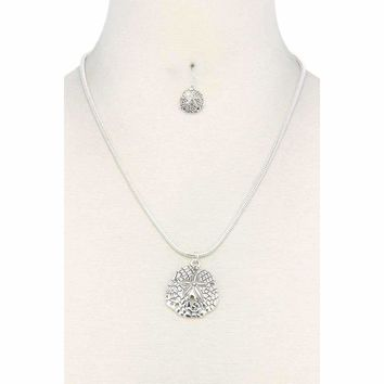 Sand Dollar Pendant Necklace