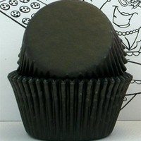Black Greaseproof Baking Cup Cupcake Liners - Pack of 100:Amazon:Kitchen & Dining