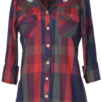 Cupshe Standing At Crossroad Hooded Shirt