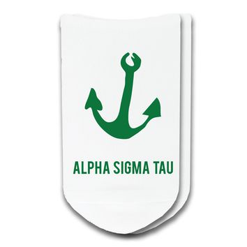 Alpha Sigma Tau - Sorority Icon No-Show Socks