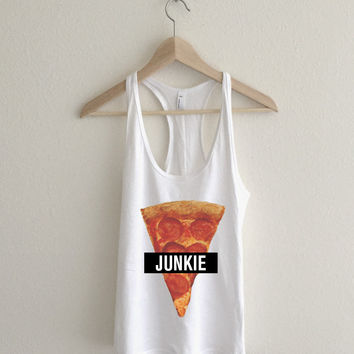 Pizza Junkie Flowy Athletic Racerback Tank Top