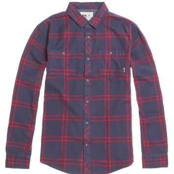 Reef Cold Drip Flannel Shirt - Mens Shirts - Blue