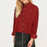Urban Renewal Vintage Originals Cropped Corduroy Button-Down Shirt | Urban Outfitters