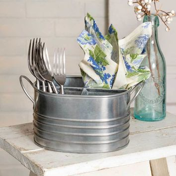 Set of 2 Oval Utensil Caddy