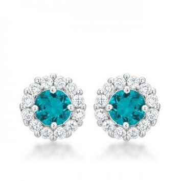 Bella Bridal Earrings In Aqua (pack of 1 ea)