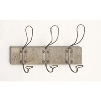 Rustic Metal Wall Hook, Grey