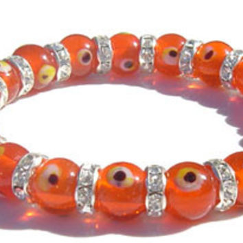 Swarovski Crystal Evil Eye Orange Bracelet II