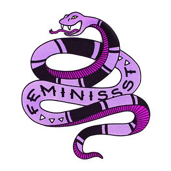 Feminist Snake Large Back Patch